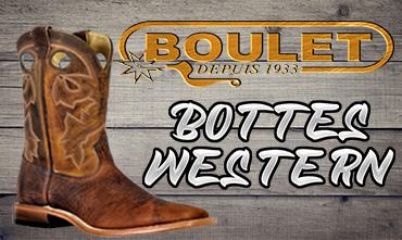 Botte Cowboy Design lacet cravate Western